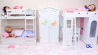 Baby Dolls Bunk Bed Bedroom Compilation of Best Doll Videos - Play Toys!