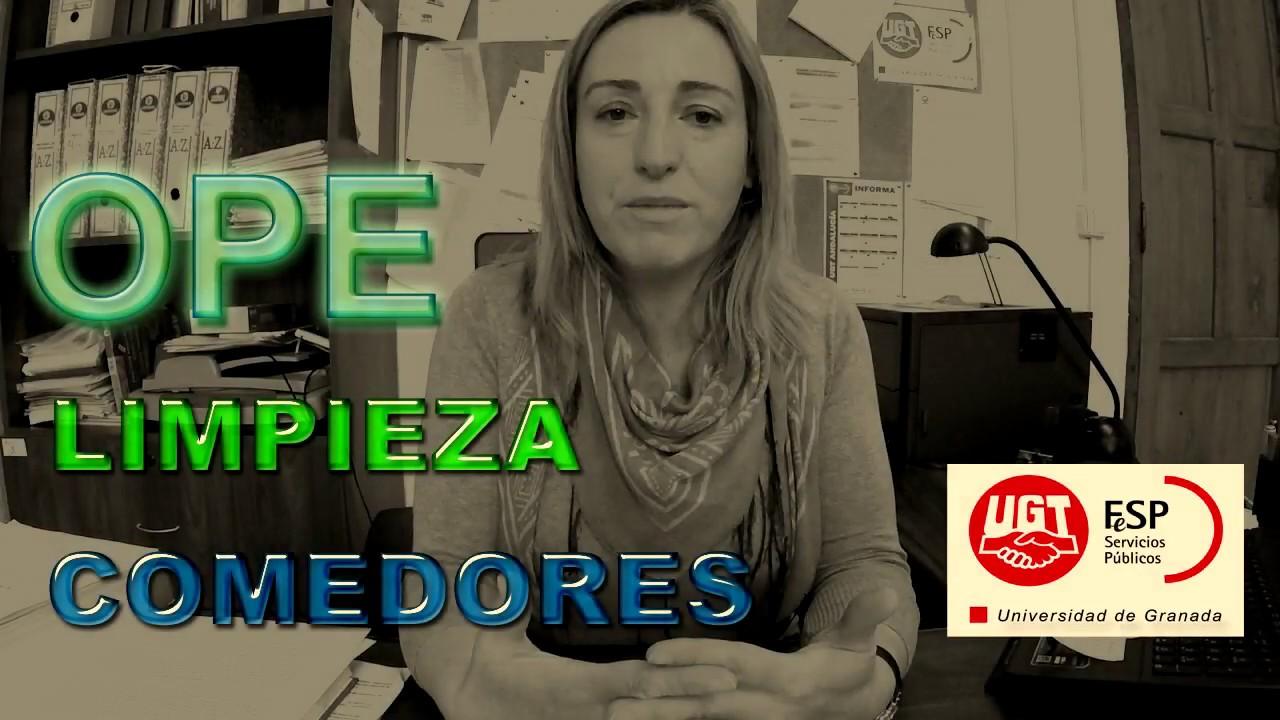 OPE Comedores, Limpieza UGR - YouTube