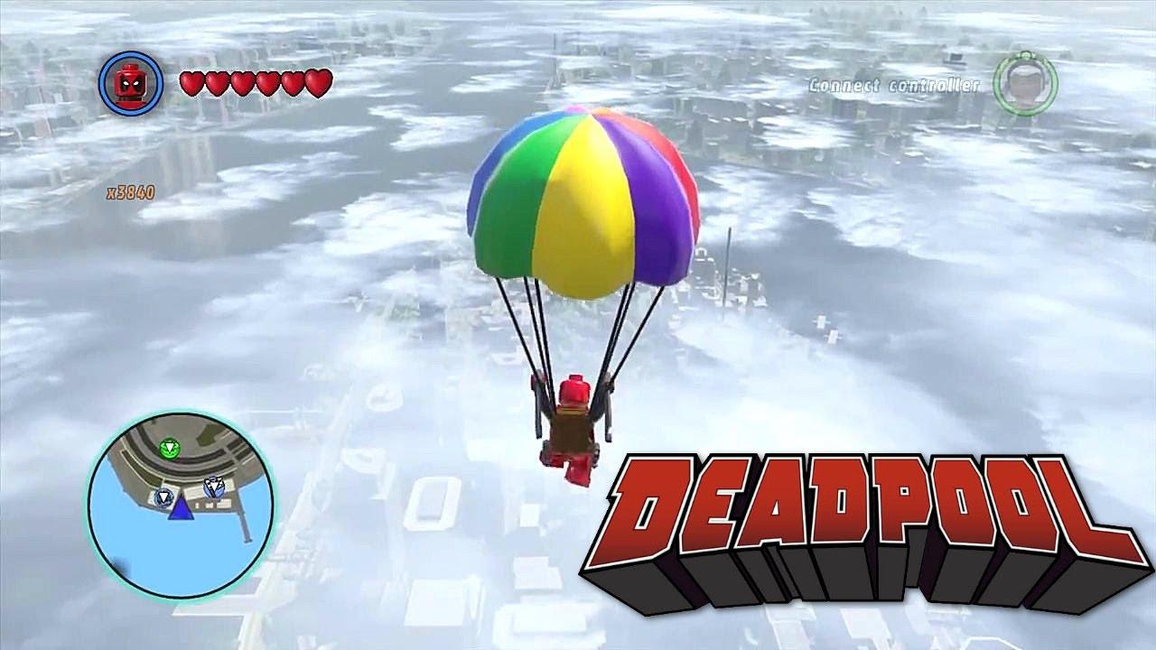 LEGO Marvel Superheroes - Deadpool Parachutes Almost Across the map