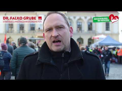 Solidarität mit den Streikenden von Ameos / Demonstration am 05.02.2020 in Magdeburg