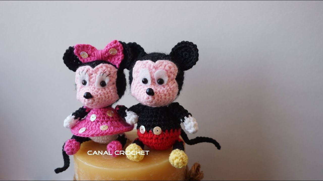 Mickey y Minnie amigurumi tutorial - YouTube