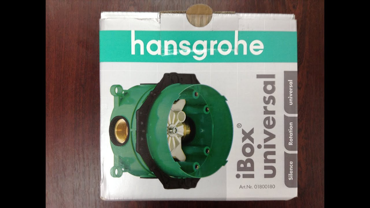 unboxing hansgrohe ibox universal 01800180 youtube. Black Bedroom Furniture Sets. Home Design Ideas