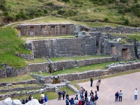 Tambomachay in Cusco Peru Inca aqueducts, canals and waterfalls