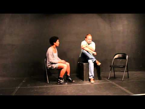 Lauris Reiniks & Chidi Mbakwe doing a scene from CLOSER - The Acting Corps