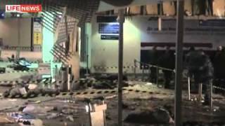 Эпицентр взрыва в аэропорту Домодедово(Место чудовищного теракта в аэропорту Домодедово спустя несколько часов было оцеплено плотными заслонами..., 2011-01-25T00:58:13.000Z)