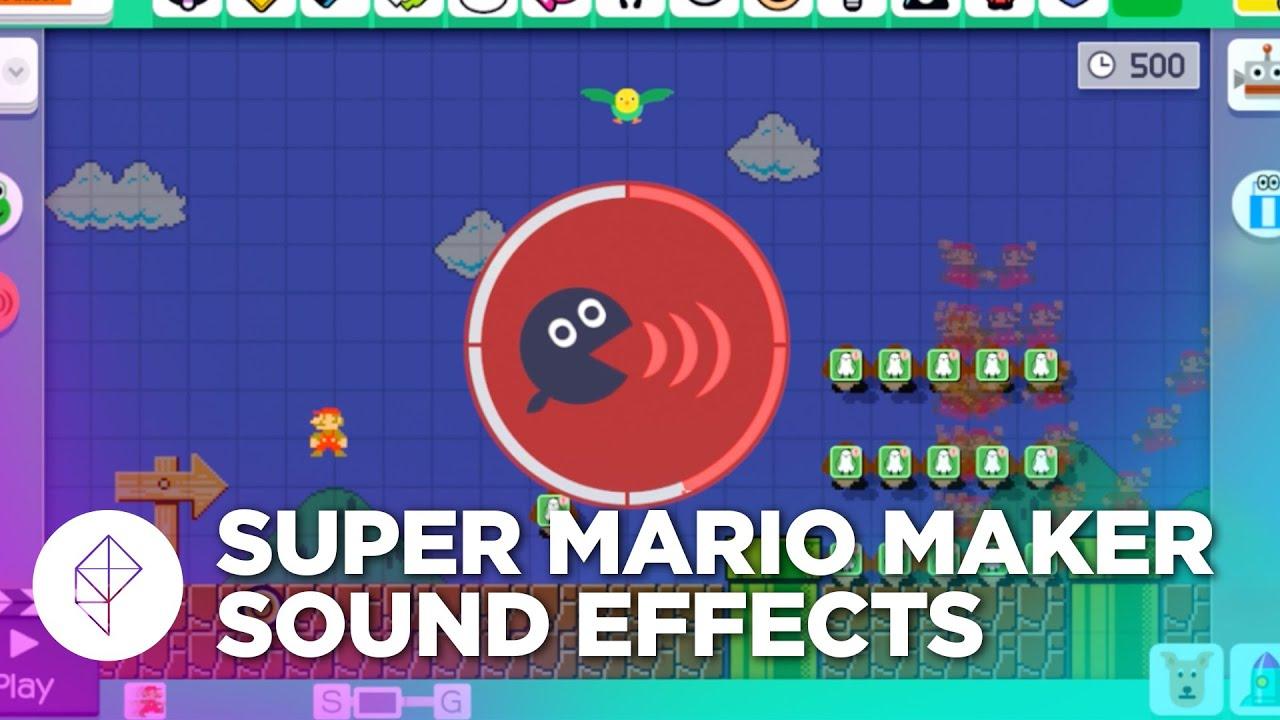 Super Mario Maker: Custom Sound Effects Gameplay
