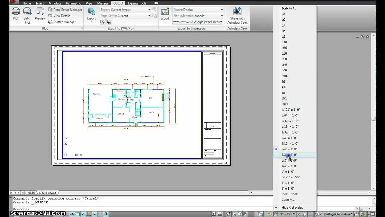 Papercraft Autocad Managing Paper and model space- Part 1.mp4