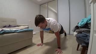 2-минутная жиросжигающая тренировка для похудения дома от Сергея Яцкоборовского. #снимибраслет