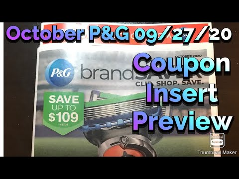What coupons are we getting? October P&G 09/27/20 Coupon Insert Preview