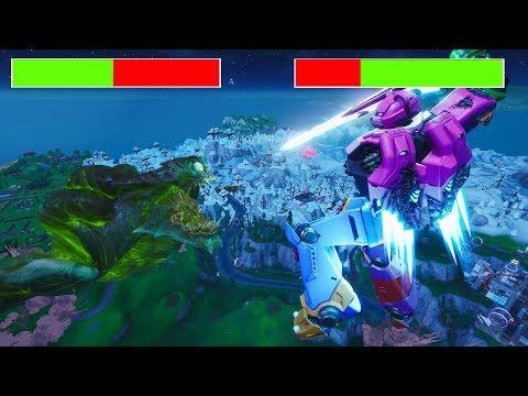 Mecha VS Monster Fight With Healthbars-Fortnite Event
