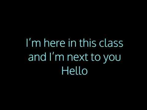 Hello Song for school Karaoke