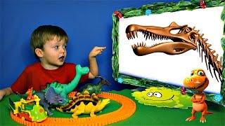 Детям про Динозавров Челлендж Угадай Скелет Динозавра #2 КАРНОТАВР и др. Видео для Детей Lion boy