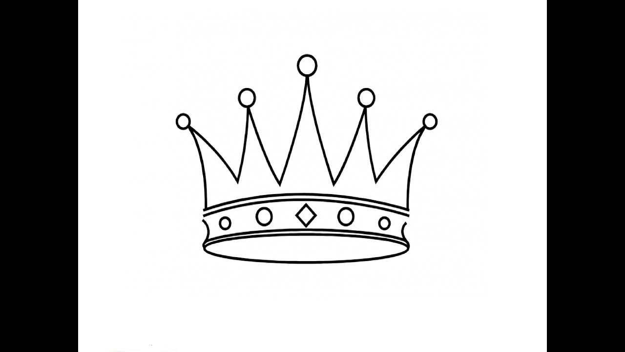 Easy Princess Crown Drawing Drawings Of Princess Crowns