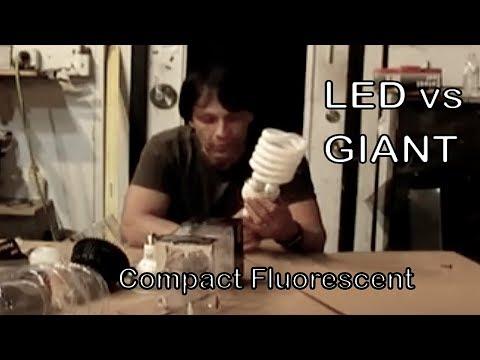 LED HIGH POWERED 21 watt indoor lighting Light Emitting Diode vs Compact Fluorescent