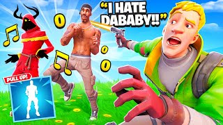 "I Trolled With NEW DaBaby ""Pull Up"" TikTok Emote.. (Fortnite)"