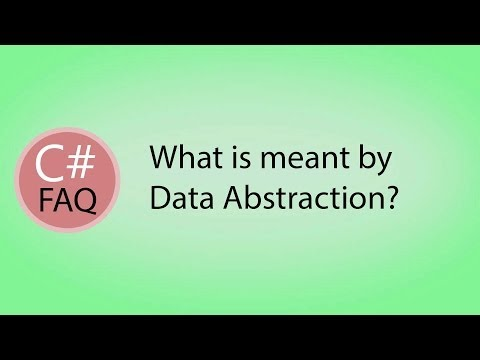 What is meant by Data Abstraction