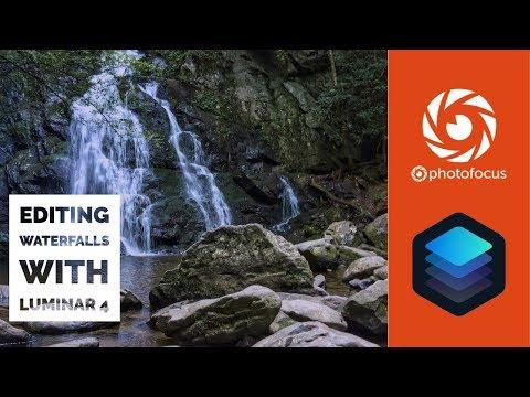 Editing waterfalls with Luminar 4