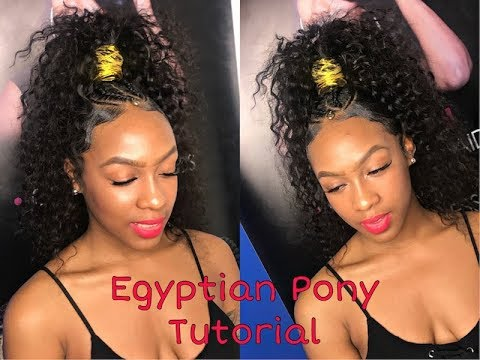 High Egyptian Ponytail Tutorial