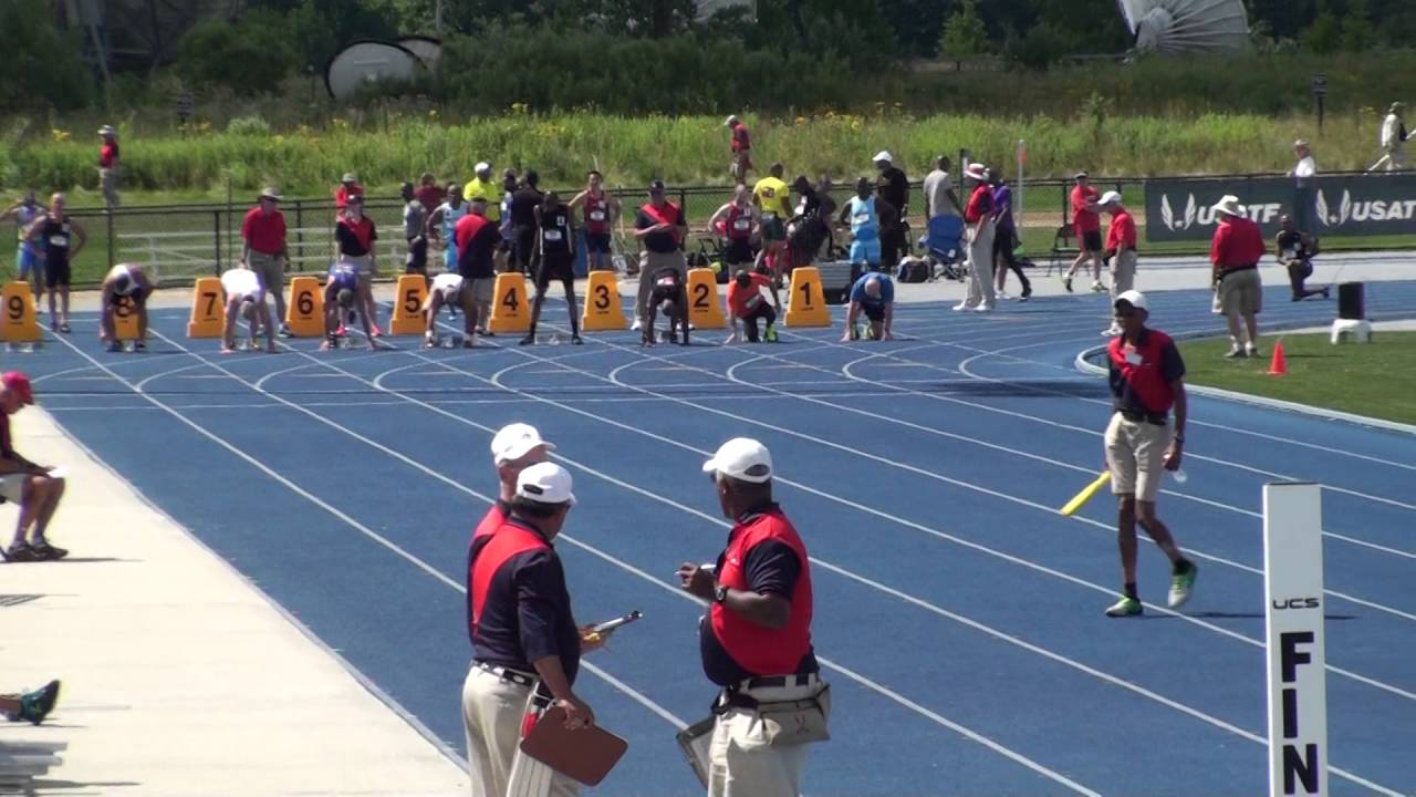 Oscar Peyton places 2nd in the 100 meter run @ Grand Rapids, MI ...