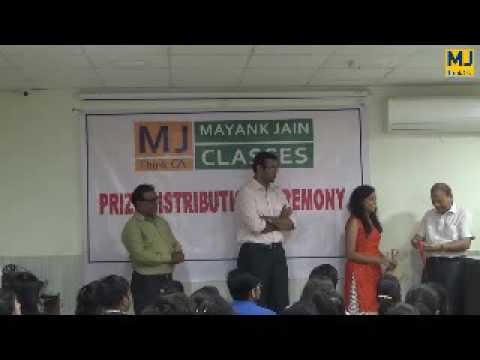 Prize Distribution Ceremony of Mayank Jain Classes (Aug. 2016)