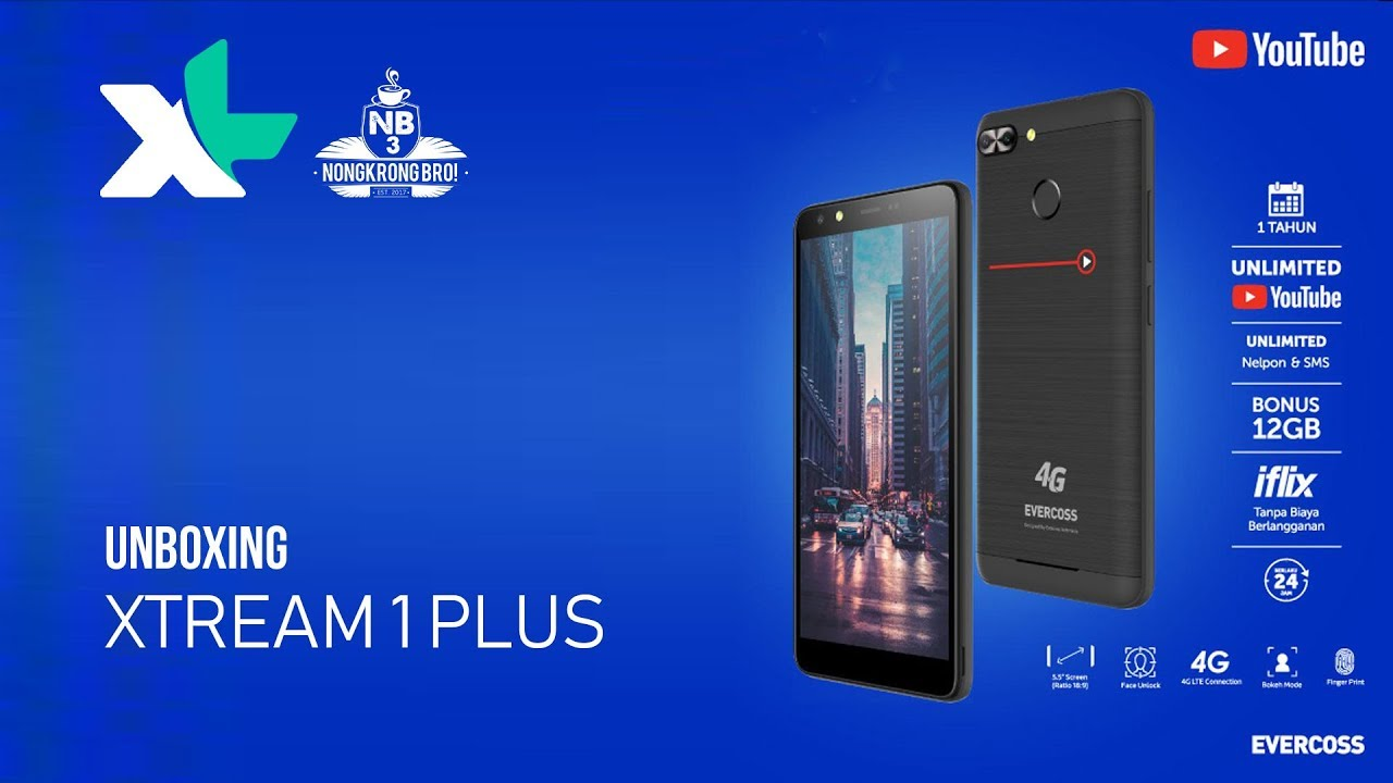 Unboxing Xl Xtream 1 Plus Hape Android 900rb An Unlimited Youtube