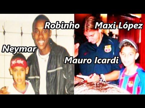 10 Futbolistas que cuando eran niños se fotografiaron junto con sus ídolos | Fútbol Social
