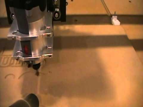 Joe's CNC First Test  Cut.wmv