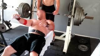 500 lb bench 6 reps Raw - James Strickland