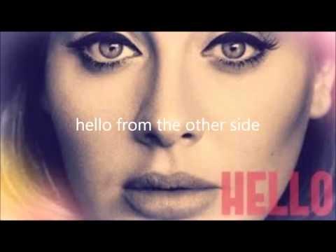 Adele - Hello Lyrics (Alice Olivia - cover)
