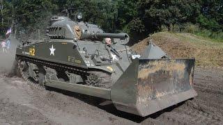 Sherman Tank Dozer in action