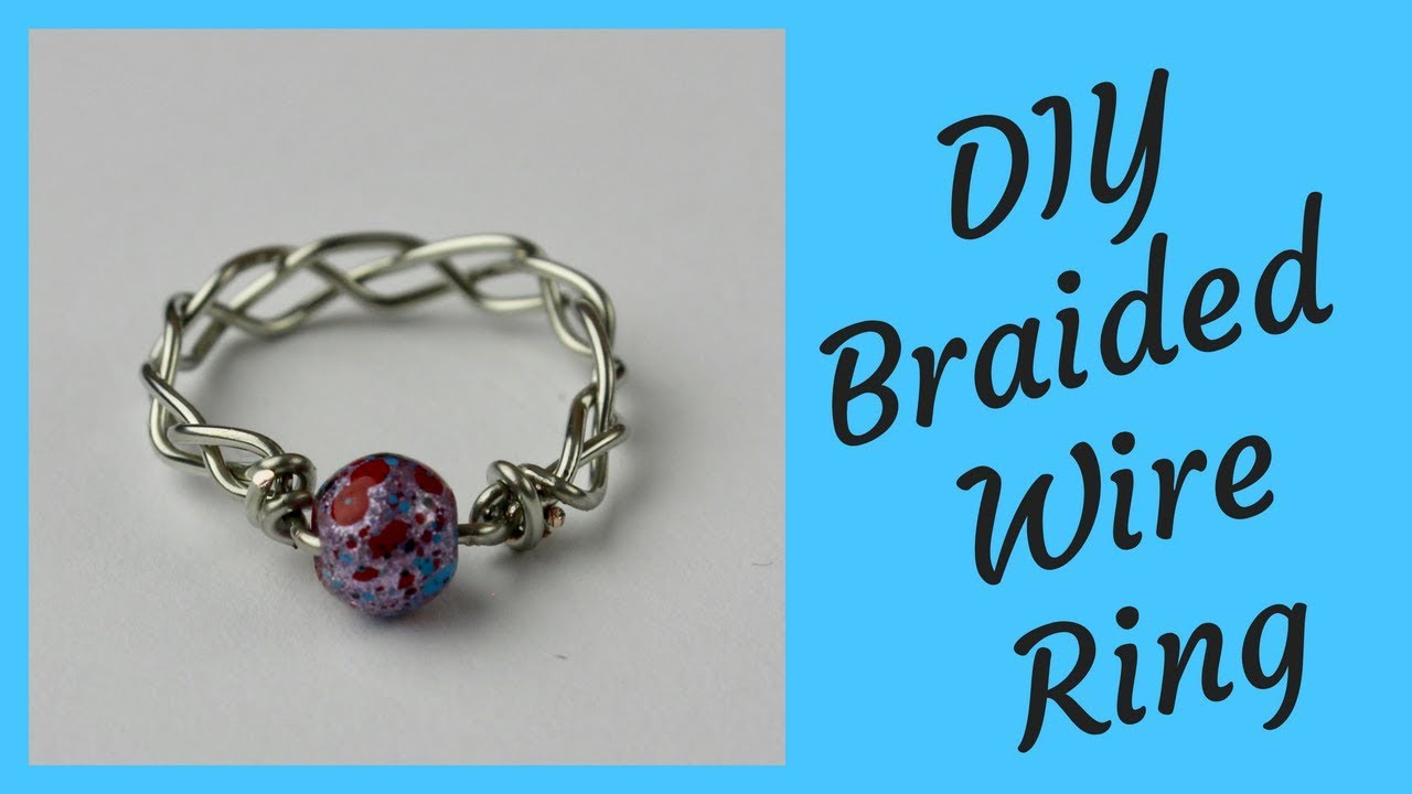 DIY Braided Wire Ring Tutorial - YouTube