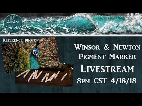 Pigment Marker Demo & Art Chat LIVE - Lachri 🎨