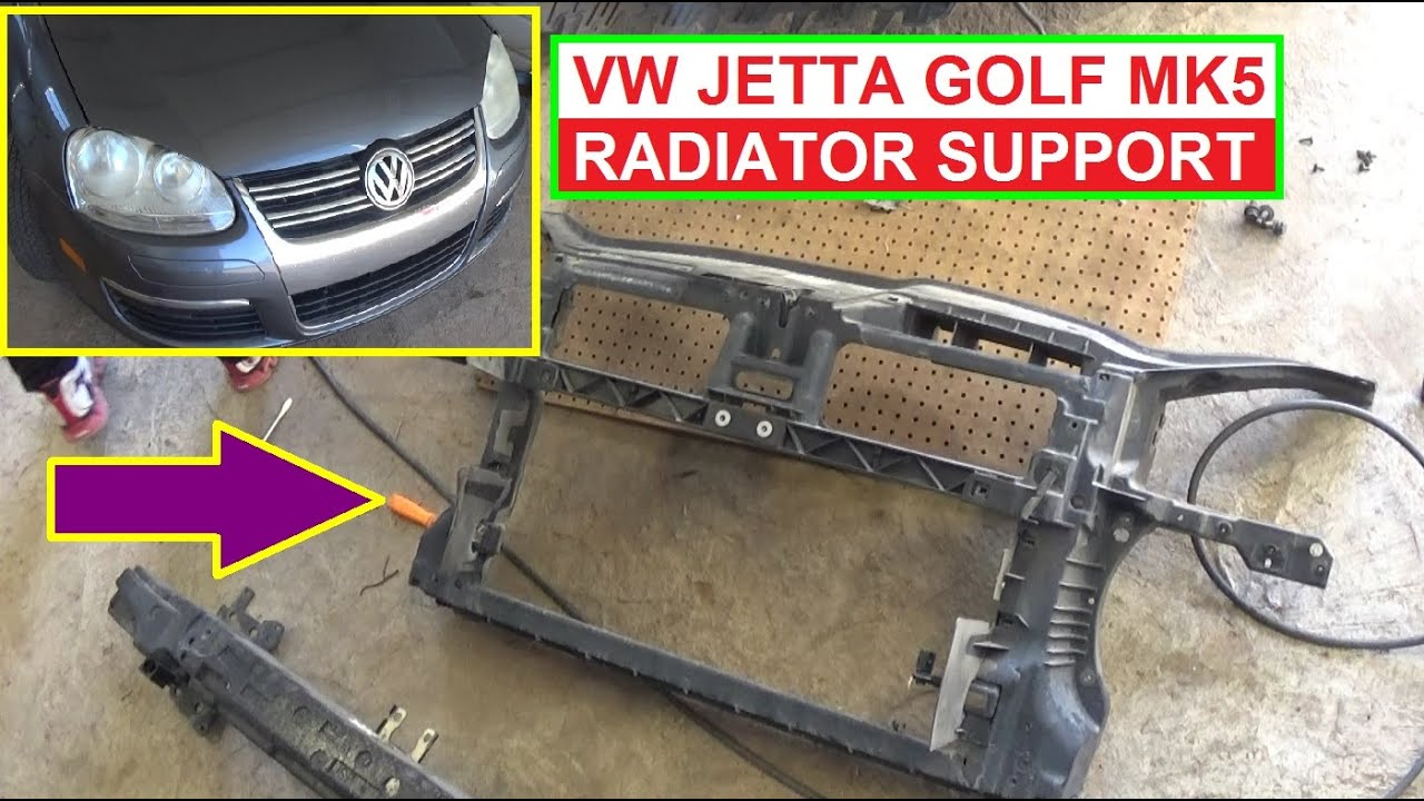 vw jetta mk5 a5 golf mk5 radiator support removal and replacement rh youtube com Audi S4 Audi A4 Turbo