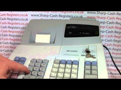 E01 ERROR MESSAGE ON SHARP XE-A202 CASH REGISTER