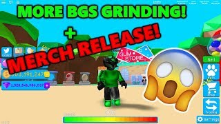 Leveling Up The Set, And Dropping Some Merch! (Roblox Bubble Gum Simulator)