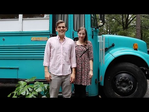 Julie and Andrew's Converted School Bus Home