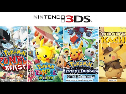 All Pokemon Games On 3DS