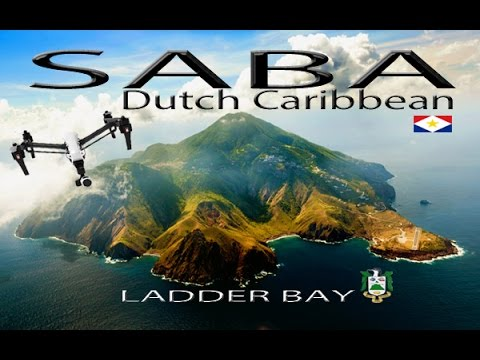 SABA Island ~ Ladder Bay ~ Epic UAV Drone ~ Caribbean Travels at its BEST ~ WeBeYachting.com