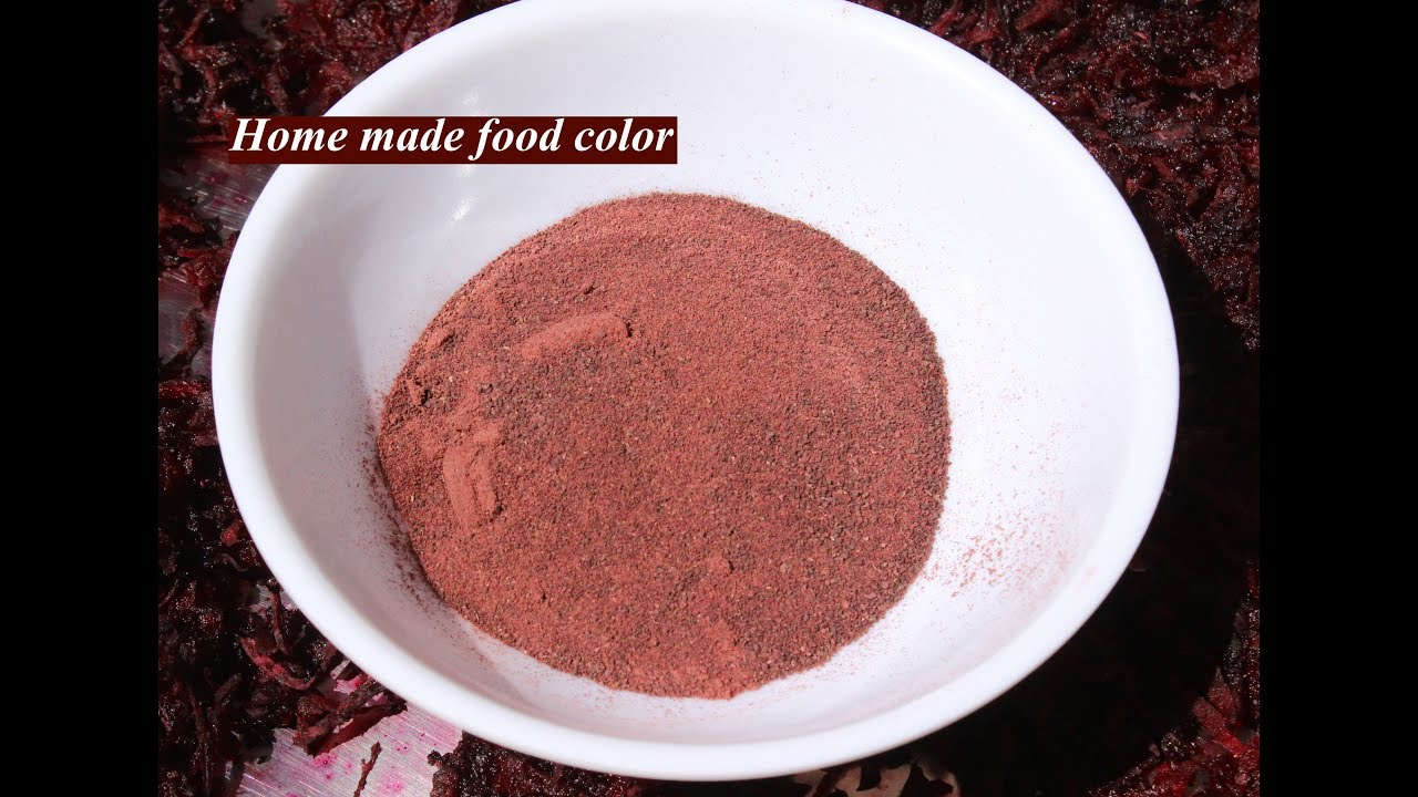 How to prepare natural red food color / Home made food color ...