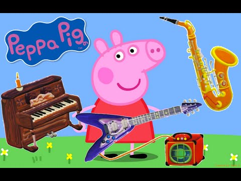 Peppa Pig & Musical Instruments for Kids | The Little Orchestra Compilation - From Baby Teacher