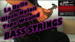 La Bella Black Nylon Tape Wound Bass Strings