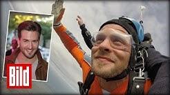 Alexander Klaws im freien Fall : Fallschirmspringen mit DSDS-Star ( Tarzan / Jesus Christ )
