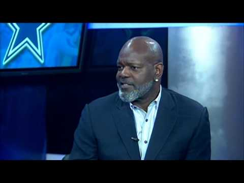Emmitt Smith in studio with Mike Doocy