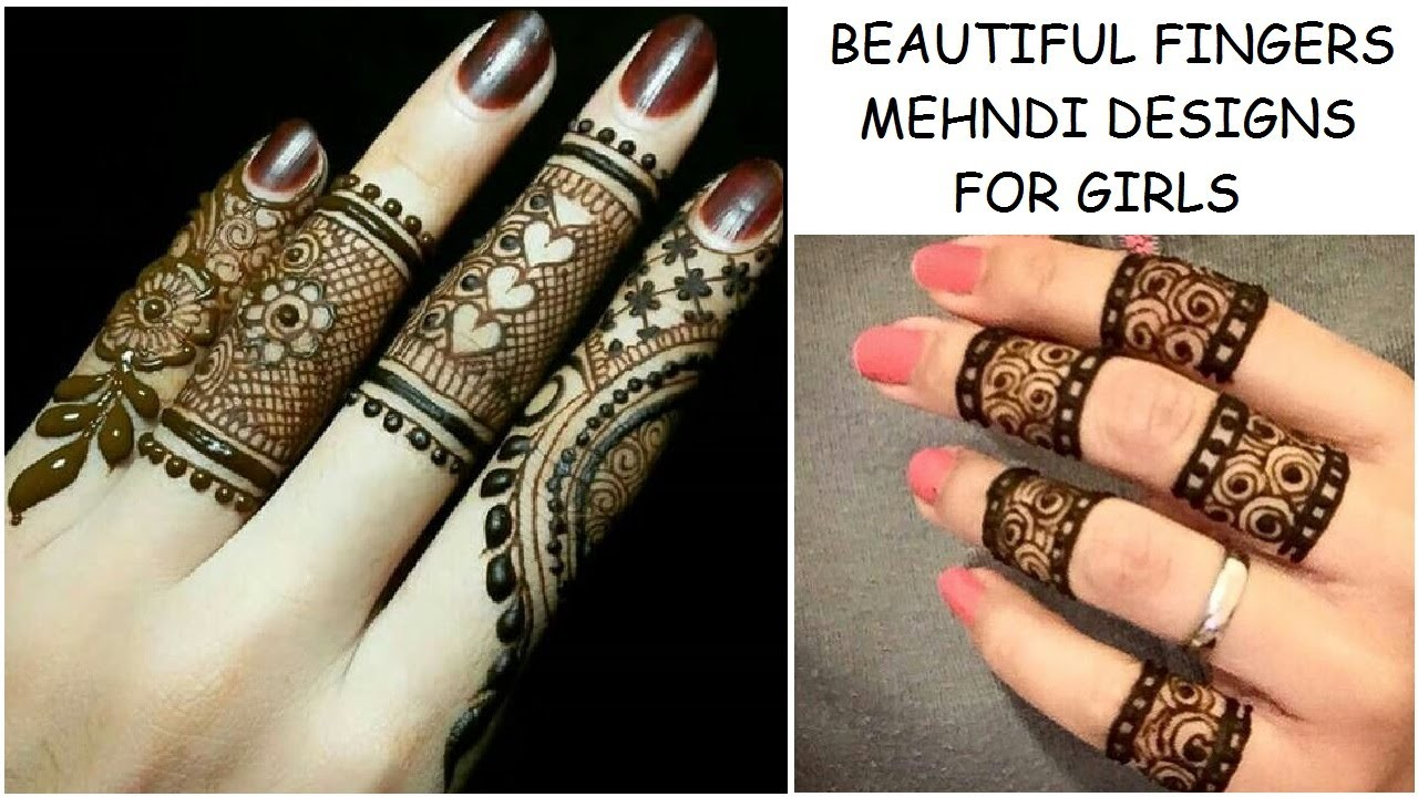 Latest New Beautiful Fingers Mehndi Henna Designs For Wedding