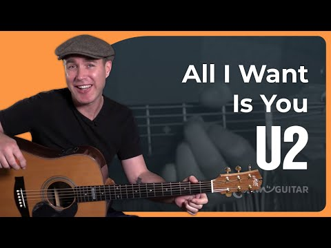 All I Want Is You – U2 – Beginner Easy Song Guitar Lesson Tutorial (BS-722)