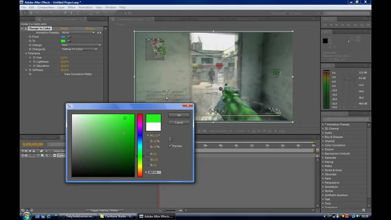 Hazard FX ::::: Tutorial Camo Replacement in Adobe After Effects ...