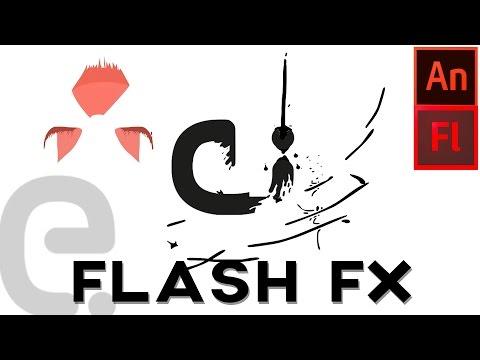 Adobe Flash / Animate CC cartoon splash flash logo reveal | Motion Graphics Tutorial