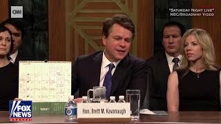 Matt Damon plays angry Kavanaugh in