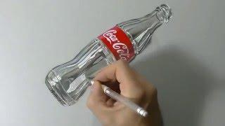 Teknik Melukis 3D Terbaru 2016, Melukis Botol Coca-cola