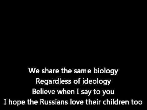 Sting - Russians (karaoke)